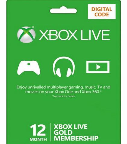 Xbox LIVE 12 Month Gold Membership (Xbox One/360) [Online Game Code]